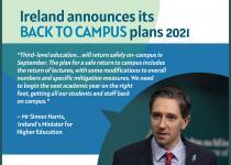 """爱尔兰教育部长宣布""""安全回归校园""""计划"""